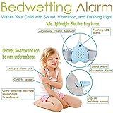 Bettnässen Enuresis Alarm, 3 Funktionen Wiederaufladbare Bettnässen Laute Sounds Starke Vibrationen für Tiefschläfer Töpfchen Pager Alle Kinder (Thea)