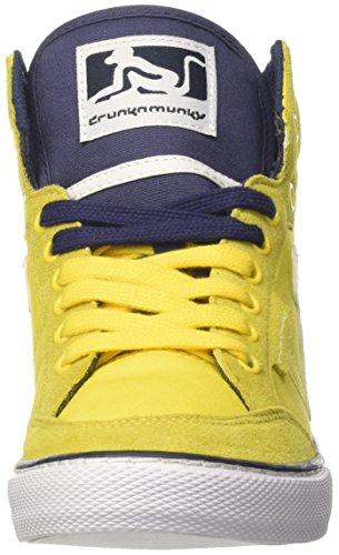 DrunknMunky Herren Boston Classic Tennisschuhe Giallo (Yellow/Navy)