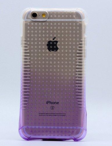 iPhone 6 Plus Stoßfeste Schutzschale, iPhone 6S Plus Schutzhülle, Hamyi Gradient Steigung Farbe Rutschfest Weich Flexibel Stoßdämpfung Schale für iPhone 6 Plus und iPhone 6S Plus (5,5 Zoll) (Blau) Lila