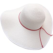 EEVASS Borde ancho redondo Sombrero Mujer Plegable Playa Sombreros UPF 50+  Natación Viajes f282014f69e