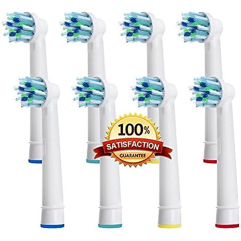 Beauty Nymph genérico de alta calidad reemplazo cabeza de cepillo de dientes eléctrica compatible con Oral B EB-50A CrossAction poder antibacteriano cepillo de dientes