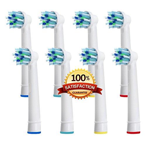 Beauty Nymphe Generic Hohe Qualität Ersatz-Aufsteckbürsten für elektrische Zahnbürste kompatibel für Oral B Ersatz eb-50a CrossAction Power antimikrobiellen Zahnbürste (Sweep Prinzessin)