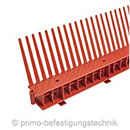 30 Meter Traufkamm Traufenlüftungselement | Abmessung: 55mm | Farbe: Ziegelrot | nach DIN 4108 514101