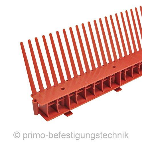 1 Meter Traufkamm Traufenlüftungselement | Abmessung: 55mm | Farbe: Ziegelrot | nach DIN 4108 514101