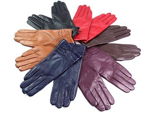 femmes-Qualit-Premium-super-doux-cuir-vritable-fausse-fourrure-doubl-Gants-CHEVAUCHEMENT-dtail-hiver-chaud
