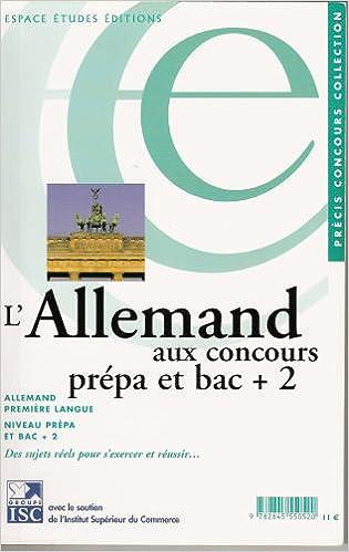 Livres Allemand aux Concours-Lv1 Prepa et Bac+2 pdf ebook