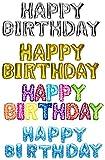 DekoRex® HAPPY BIRTHDAY Ballons Folienballons Buchstabenballons Luftballons Geburtstag ca. 40cm hoch in Bunt