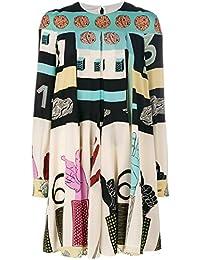 Valentino Damen NB0VAG413MU0Y5 Multicolour Seide Kleid