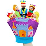 Happy Cherry Kids Cute Hand Finger Plush Puppets Glove Set Fairy Tale Kingdom For Children Early Education Toys For New Born Baby Doll