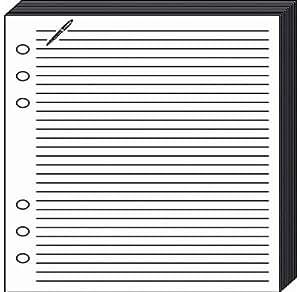QUO VADIS Recharge Accessoires Organiseur FICHES NOTES Timer 21 Blanc 15 x 21 cm