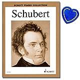 Ausgewählte Werke von Franz Schubert - Schott Piano Collection - Klavier Noten - mit herzförmiger Notenklammer