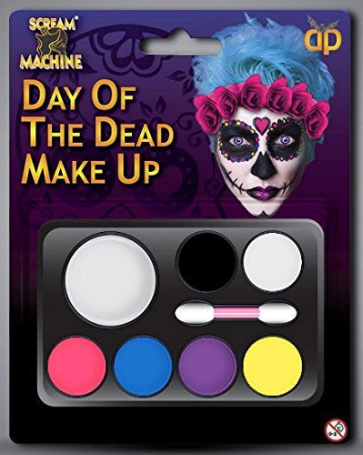 Halloween Day Of The Dead Sugar Skull Make-up Set Face Paint Fancy Dress (Decor Toten Der Tag Home)