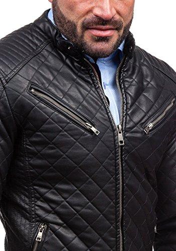BOLF - Veste - Faux cuir - Fermeture éclair – GLO-STORY 6264 – Homme Noir