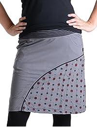 b310ec0edc82 Vishes – Alternative Bekleidung – Kurzer Rock aus Jersey Baumwolle mit  gestreiftem Bund