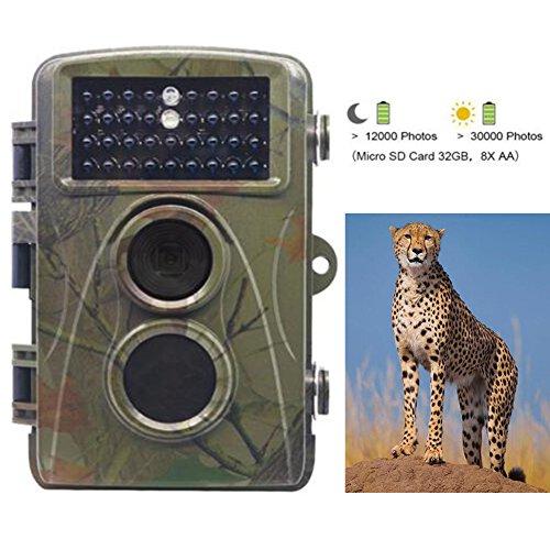 Trail Jagd Kamera Outdoor–H3NIGHT VISION Wildlife Hirsch Jagd Kamera, 0.2s Trigger Time, IP56Wasserdicht, 12Millionen HD Pixel (Powered Hd Externe)