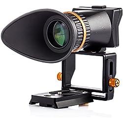 """TARION TR-V2 Viseur optique LCD 2,5x universel professionnel avec réglage de dioptrie pour Canon Nikon Pentax DSLR, appareil photo hybride avec écran 3"""" et 3,2"""""""