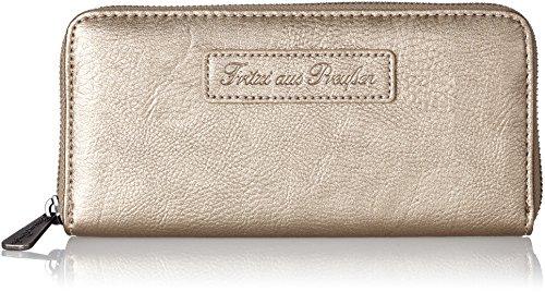 Fritzi aus Preussen Damen Nicole Geldbörse, Silber (Warm Silver), 2.5x9.5x19.5 cm