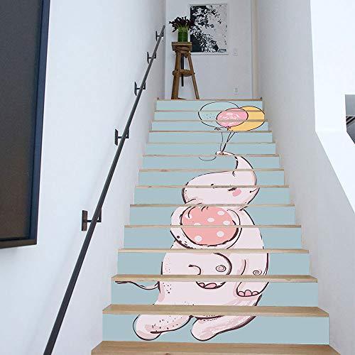 Amphia - Stairs Sticker Papiertiere - 13 Stück.DIY Schritte Aufkleber Abnehmbare Treppe Aufkleber...