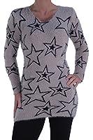 EyeCatch - Ladies Stars Jumper Sweater Womens Pullover One Size