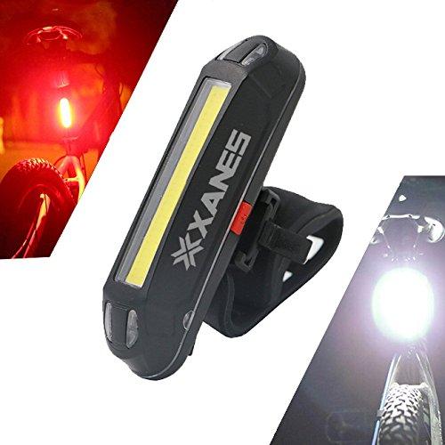 TENGGO 2 en 1 500Lm Vélo USB Rechargeable LED Vélo Avant Feu Arrière Léger Nuit D'Avertissement