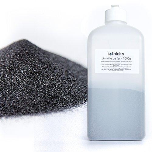 1 Kostenlose Flasche (1kg hochwertigem Eisenpulver [Kostenlose Flasche mit Auslauf] - Eisenpulver für die Wissenschaften und Bildung - Erstellen Sie eine Mauer Magnetverschluss aus der Mischen mit der Malerei)