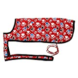 Nootie Winter Dog Coat With Paw Print Red - 12
