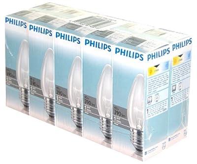 10 x Philips Glühlampe Glühbirne Kerze 40W 40 Watt E27 klar Kerzen Glühbirnen Glühlampen