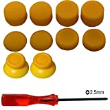 Kit de reparación de joystick analógico de reemplazo eJiasu, destornillador Phillips de 2,5 mm con altura de palanca de mando y palanca de mando para PS4 DualShock 4 Handle Cont...