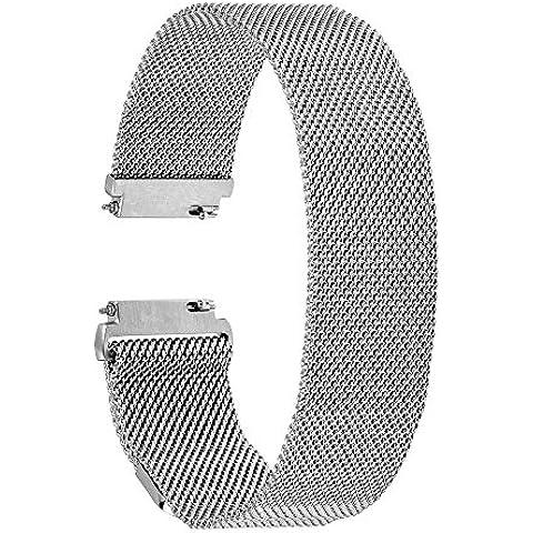 TRUMiRR 16mm Milanese Loop Ver Banda Magnética seguro de la correa de Moto 2 360 mujeres de 42 mm de 2015