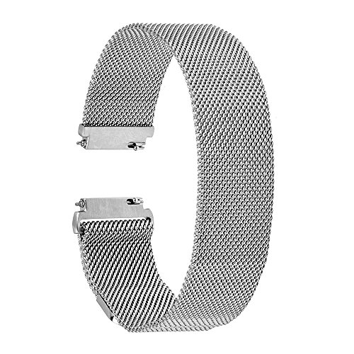 TRUMiRR 18 mm Milanese Loop Watch Band Strap Serratura Magnetica per Huawei Watch, Withings Activite / Acciaio /