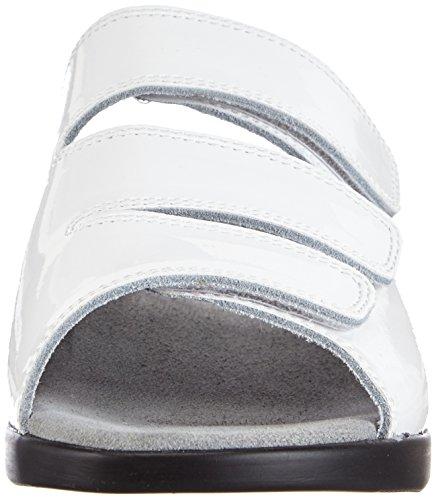Gevavi  3001 BIGHORN SLIPP., Mules femmes Blanc - Weiß (weiss(wit lak) 91)