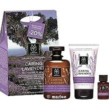 Apivita Set de Regalo Caring Lavender Gel Ducha Suave Lavanda, 300ml+Crema Corporal,