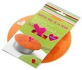 Lékué Tapa de succión corazón, 17 cm, Silicona, Naranja