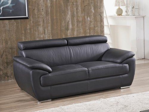 Voll-Leder Sofa 2-Sitzer Ledersofa Sessel Zweisitzer Couch 4571-2-S -