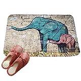 LvRaoo Fußmatte Willkommen für Haustür Innen und Aussen Fussmatten Rutschfest Schmutzfangmatte Fußabtreter Fussabstreifer - Mandala Elefant Drucke (# 5, 80 * 50cm)