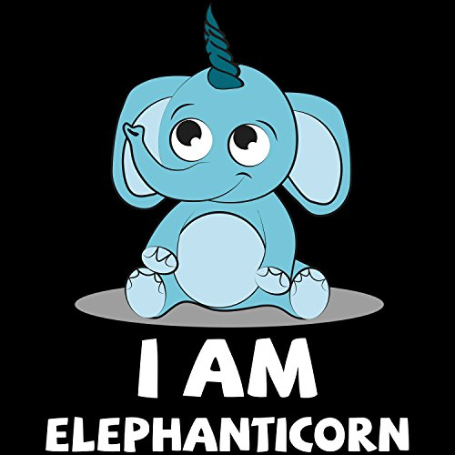I Am Elephanticorn - Herren T-Shirt von Fashionalarm | Fun Shirt Spruch Spaß Elefant Einhorn Elephant Unicorn süß niedlich lustig Schwarz