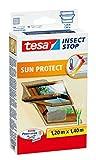 2 Stück tesa Fliegengitter für Dachfenster, mit Sonnenschutz, beste tesa Qualität, 1,2m x 1,4m