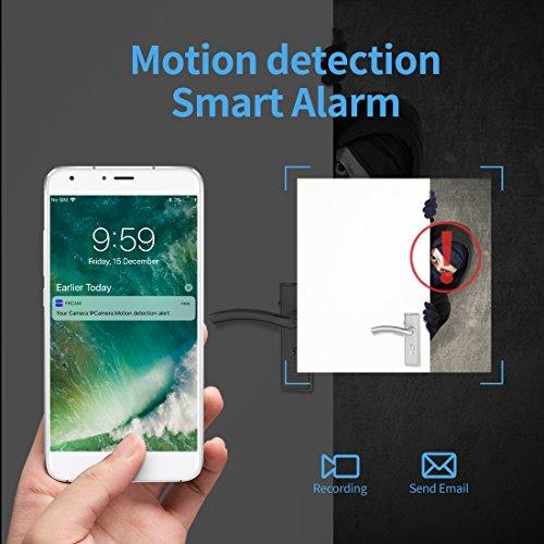 FREDI Microcamera spia HD 720P con rete Wireless micro ip camera Wi-Fi Telecamera nascosta cam modulare P2P fai da te senza fili con sensore di movimento - Videocamera DV Digital Video Recorder - 4