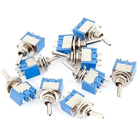 DealMux–10pcs AC 3A/250V 6A/125V 3pin SPDT on/on 2way Toggle Switch