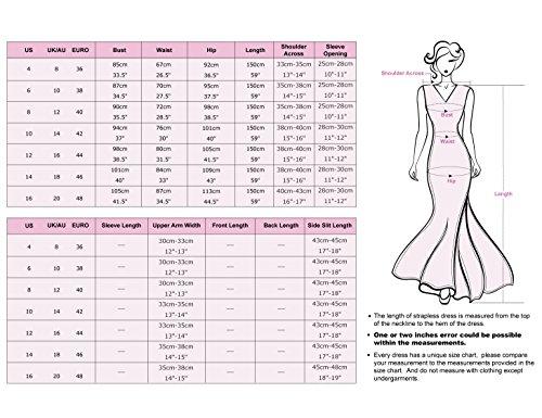 Ever Pretty Damen Elegant Lang Halbarm Lace Abendkleid 08861 Dunkelviolett