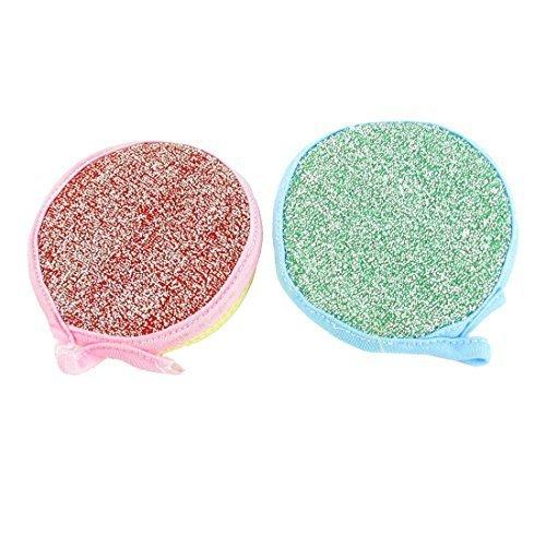 sourcingmapr-forme-ronde-plat-tampon-a-recurer-eponge-lingette-nettoyante-2-pcs