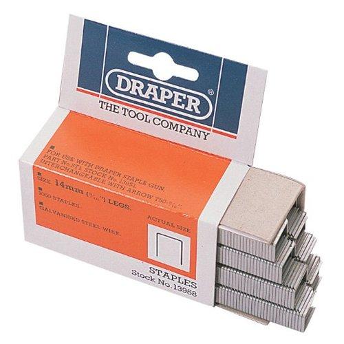 Draper 13958 Tackerklammern, 14mm (Schachtel mit 1.000 Stück)