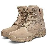 fengwen66 Botas Militares Hombres Fuerzas Especiales Zapatos de Combate Botas tácticas Botas de Desierto (Arena) (41)