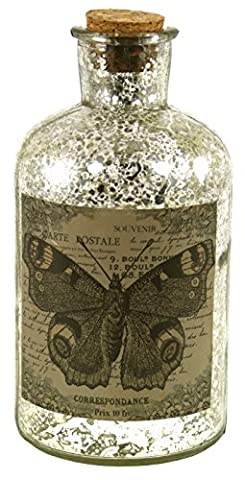 Antique Style Corked Bottle With Butterfly Sketch