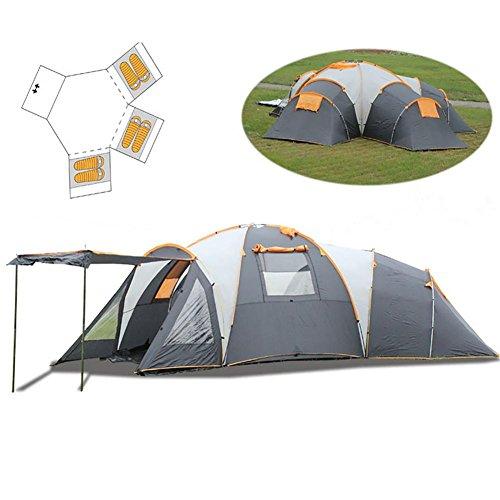 Miao Luxus Camping Zelte, Outdoor Oversized Drei Living Zimmer und zwei Wohnzimmer