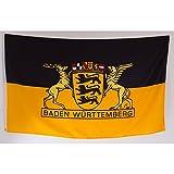 Flagge 90 x 150 : Baden-Württemberg großes Landessiegel