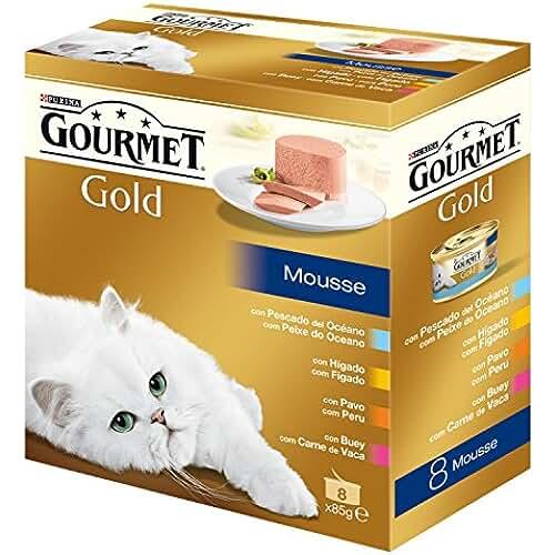 regalos kawaii gato Gourmet Gold Mousse Alimento para Gato, Húmedo - 680 g