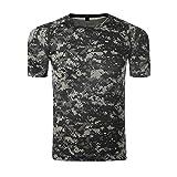 TACVASEN Militar Táctico Hombres Camo Camiseta T-Shirt Camuflaje