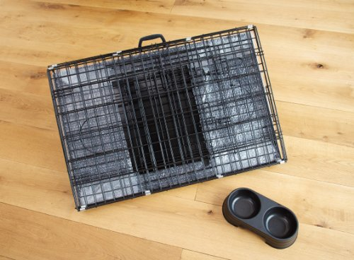 Easipet Dog Puppy XXLarge Black Metal Training Cage Crate 48 4