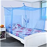 Shahji Creation Semi Double Bed Mosquito Net, Multicolor (5X6 Feet)